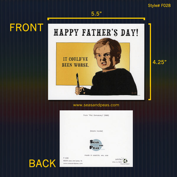 """Pet Sematary"" Father's Day Card - WHOLESALE"