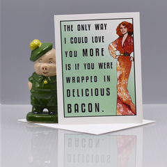 Bacon Valentine Love Card - WHOLESALE 6-PACK