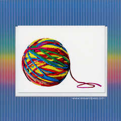 A Ball of Yarn All Occasion Card - WHOLESALE 6-PACK
