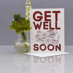 Bandaids Get Well Card - WHOLESALE 6-PACK