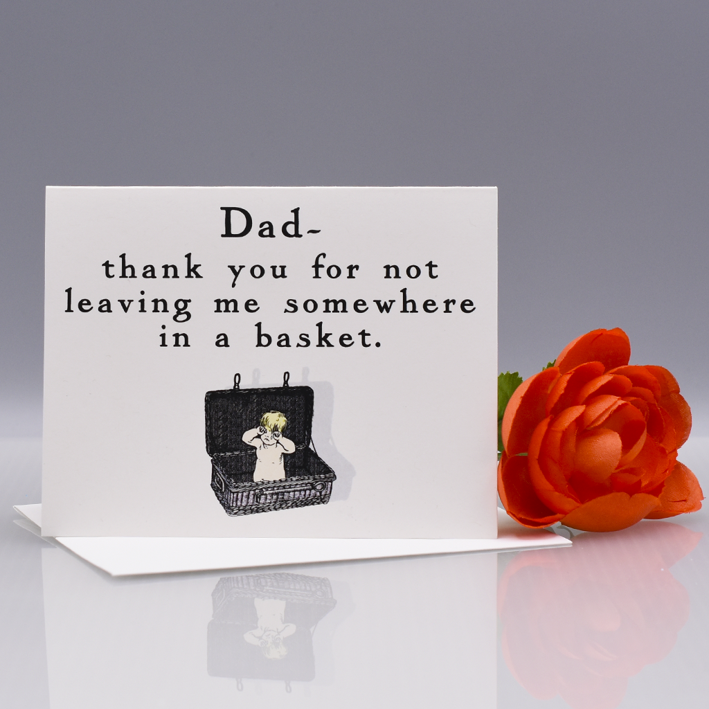 In a Basket Thank You Card for Dad - WHOLESALE 6-PACK