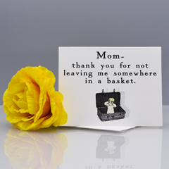 In a Basket Thank You Card for Mom - WHOLESALE 6-PACK