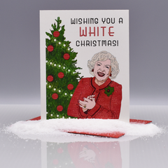 Betty White Christmas Card - WHOLESALE 6-PACK