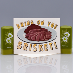Bring On The Brisket! Hanukkah Card - WHOLESALE 6-PACK