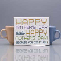 Father's Day Card for Single Dad - WHOLESALE 6-PACK