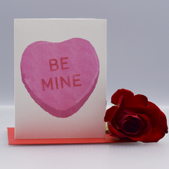 "Be Mine ""Conversation Heart"" Valentine Love Card - WHOLESALE 6-PACK"