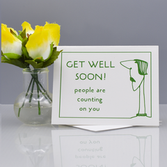 Selfish Get Well Card - WHOLESALE 6-PACK