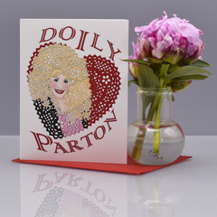 Doily Parton Valentine's Day Card - WHOLESALE 6-PACK