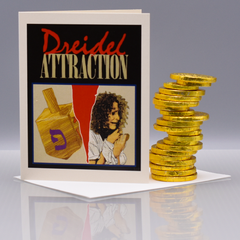 "Dreidel Attraction ""Fatal Attraction"" Hannukah Card - WHOLESALE 6-PACK"
