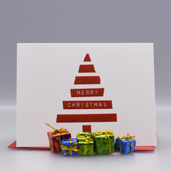 Dymo Tree Christmas Card - WHOLESALE 6-PACK