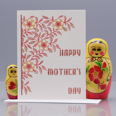 Red Vine Mother's Day Card - WHOLESALE 6-PACK