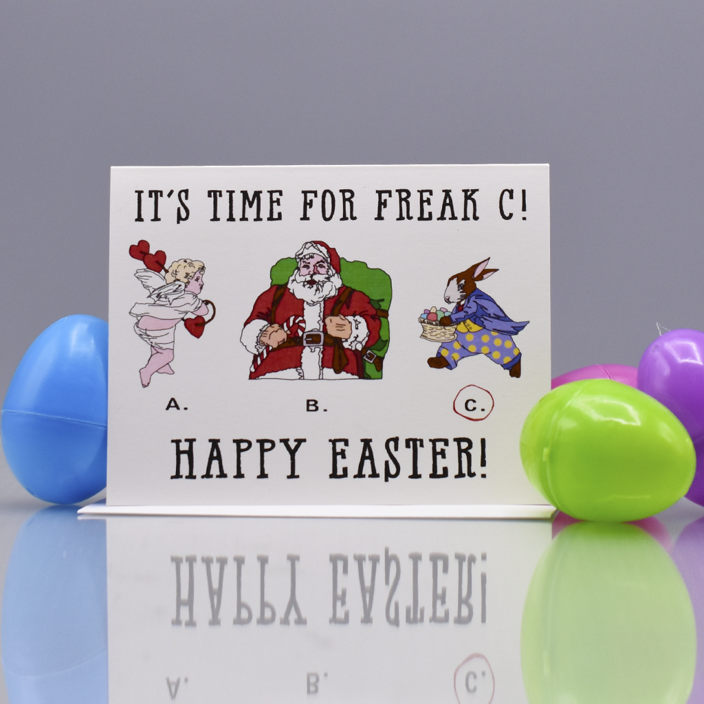 That Freak, the Easter Bunny Easter Card - WHOLESALE 6-PACK