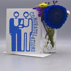 A Simple Gay Wedding Congratulations Card - WHOLESALE 6-PACK
