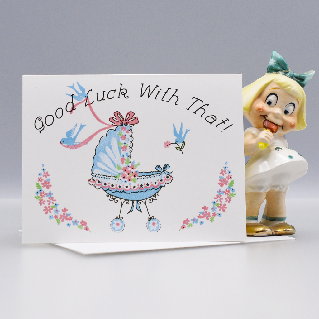 Good Luck With That! New Baby Congratulations Card - WHOLESALE 6-PACK