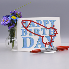 Another Vandalized Birthday Card - WHOLESALE 6-PACK