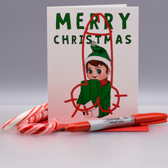 Vandalized Christmas Card - WHOLESALE 6-PACK