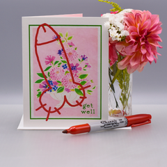 Vandalized Get Well Card - WHOLESALE 6-PACK