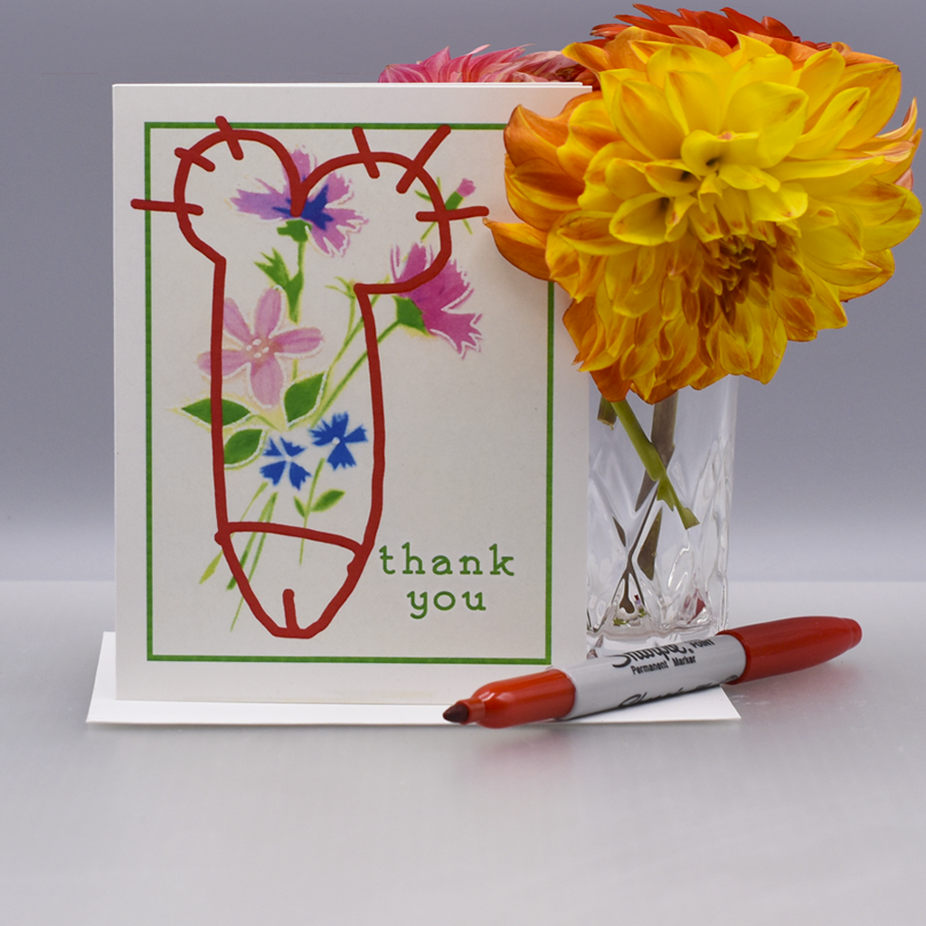 Vandalized Thank You Card - WHOLESALE 6-PACK