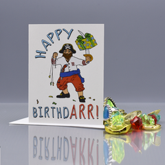 """Happy Birthdarr!"" Pirate Birthday Card - WHOLESALE 6-PACK"