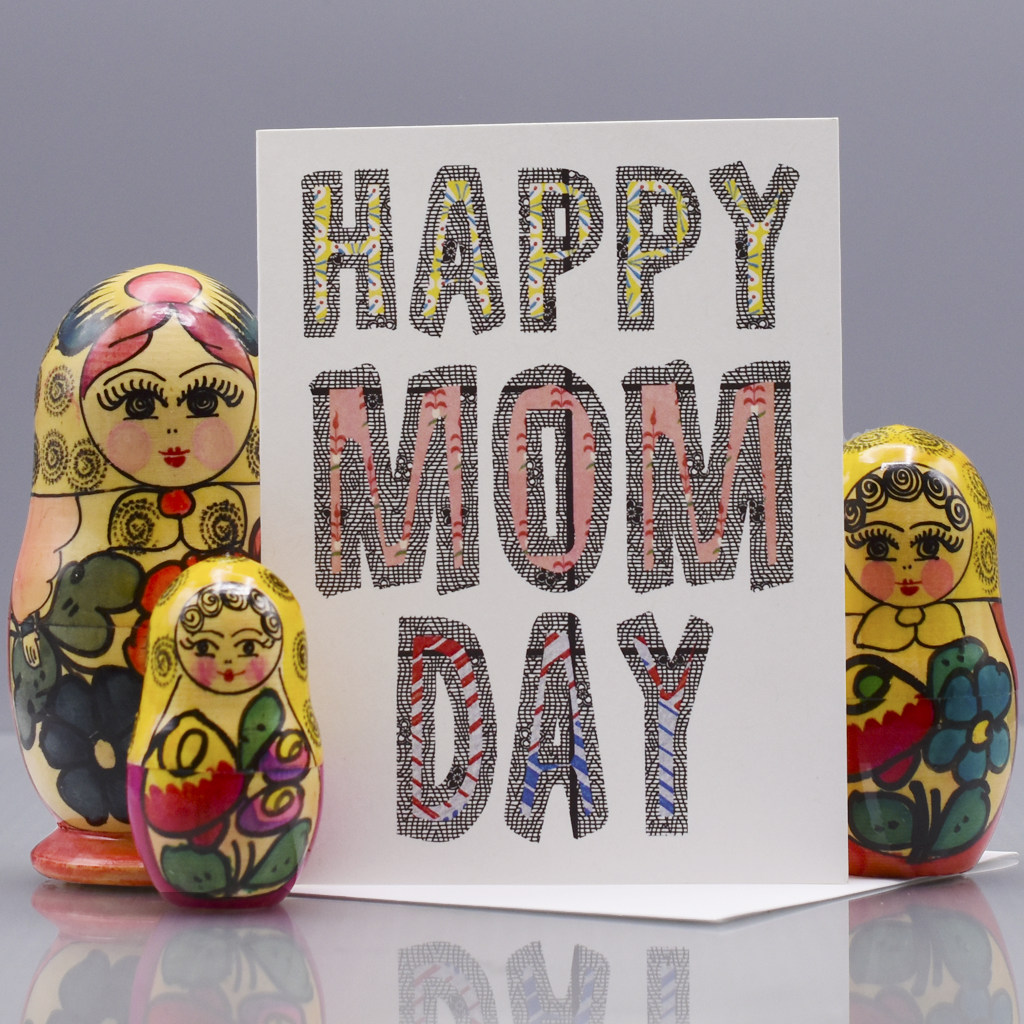 Happy Mom Day! Mother's Day Card - WHOLESALE 6-PACK