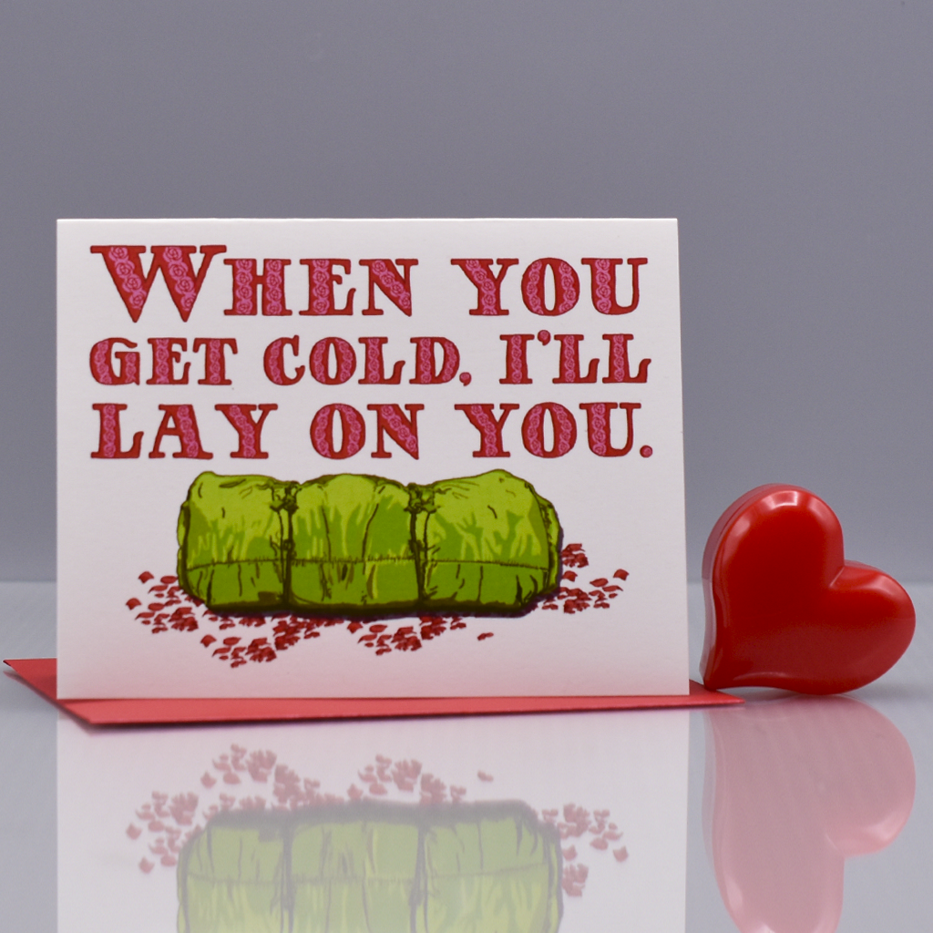 I'll Lay On You Valentine Love Card - WHOLESALE 6-PACK