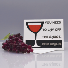 Lay Off The Sauce Encouragement Card - WHOLESALE 6-PACK