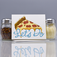 Let's Do Pizza Friendship Card - WHOLESALE 6-PACK