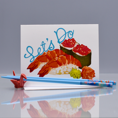 Let's Do Sushi Friendship Card - WHOLESALE 6-PACK