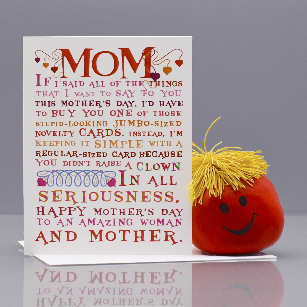 Ya Didn't Raise A Clown Mother's Day Card - WHOLESALE 6-PACK