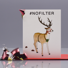 #nofilter Reindeer Christmas Card - WHOLESALE 6-PACK