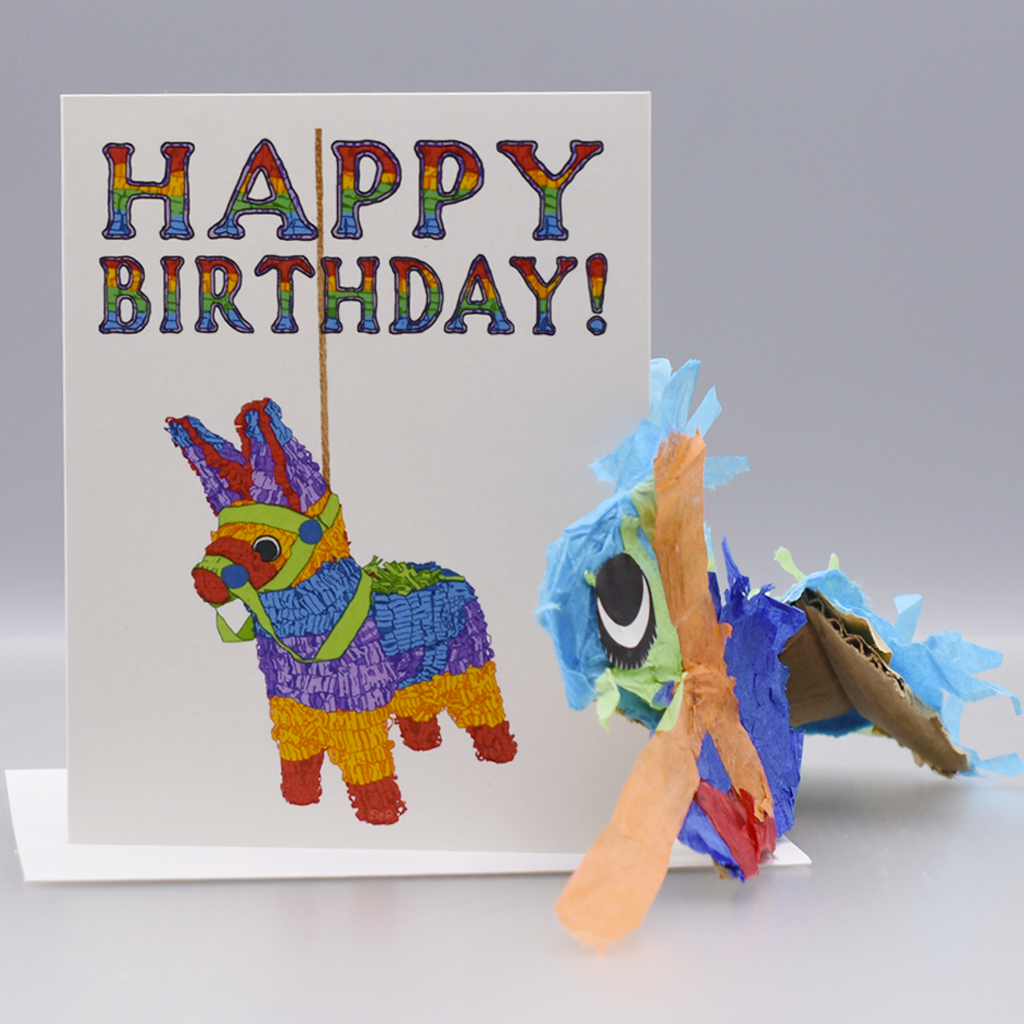 Donkey Piñata Birthday Card - WHOLESALE 6-PACK