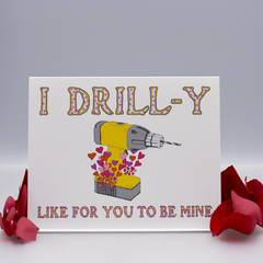 Bad Pun Power Tool Valentine Love Card - WHOLESALE 6-PACK