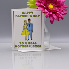 Real Mofo Father's Day Card - Version C - WHOLESALE 6-PACK
