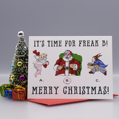 Santa the Freak Christmas Card - WHOLESALE 6-PACK