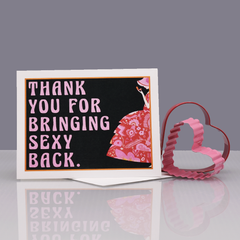 "Thank You ""SexyBack"" Valentine Love Card - WHOLESALE 6-PACK"