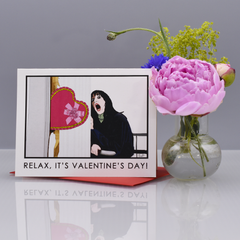 "Relax ""The Shining"" Valentine's Day Card - WHOLESALE 6-PACK"