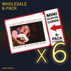 """THE SILENCE Of The LAMBS"" Mini Valentine Set - WHOLESALE 6-PACK"