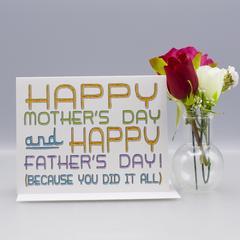 Single Mom Mother's Day Card - WHOLESALE 6-PACK
