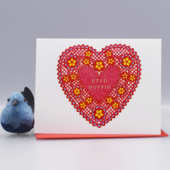 Stud Muffin Valentine's Day Card - WHOLESALE 6-PACK