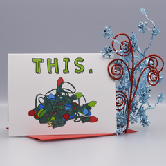 This Tangled Mess of Lights Christmas Card - WHOLESALE 6-PACK