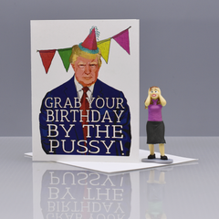 "Trump ""Pussy"" Birthday Card - WHOLESALE 6-PACK"