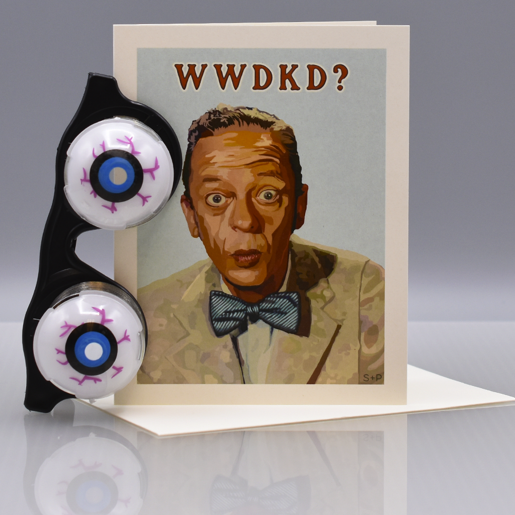 What Would Don Knotts Do? Greeting Card - WHOLESALE 6-PACK