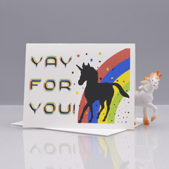 Yay For You-nicorn Congratulations Card - WHOLESALE 6-PACK
