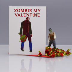 Zom-Be My Valentine Valentine's Day Card - WHOLESALE 6-PACK