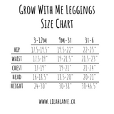 Faux Glitter Grow With Me Leggings