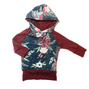 Midnight Floral Grow With Me Hoodie