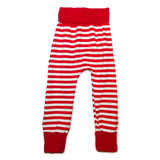 Red And White Grow with me Pants