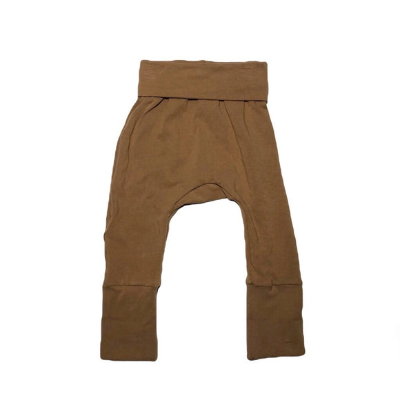Solid Camel Grow with me Pants