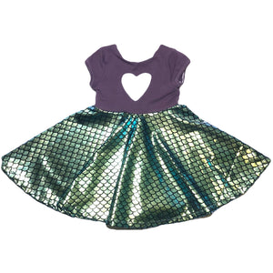 Mermaid  Dress with Heart Cut Out