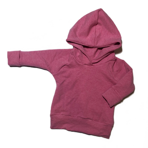 Raspberry Pink Grow With Me Hoodie
